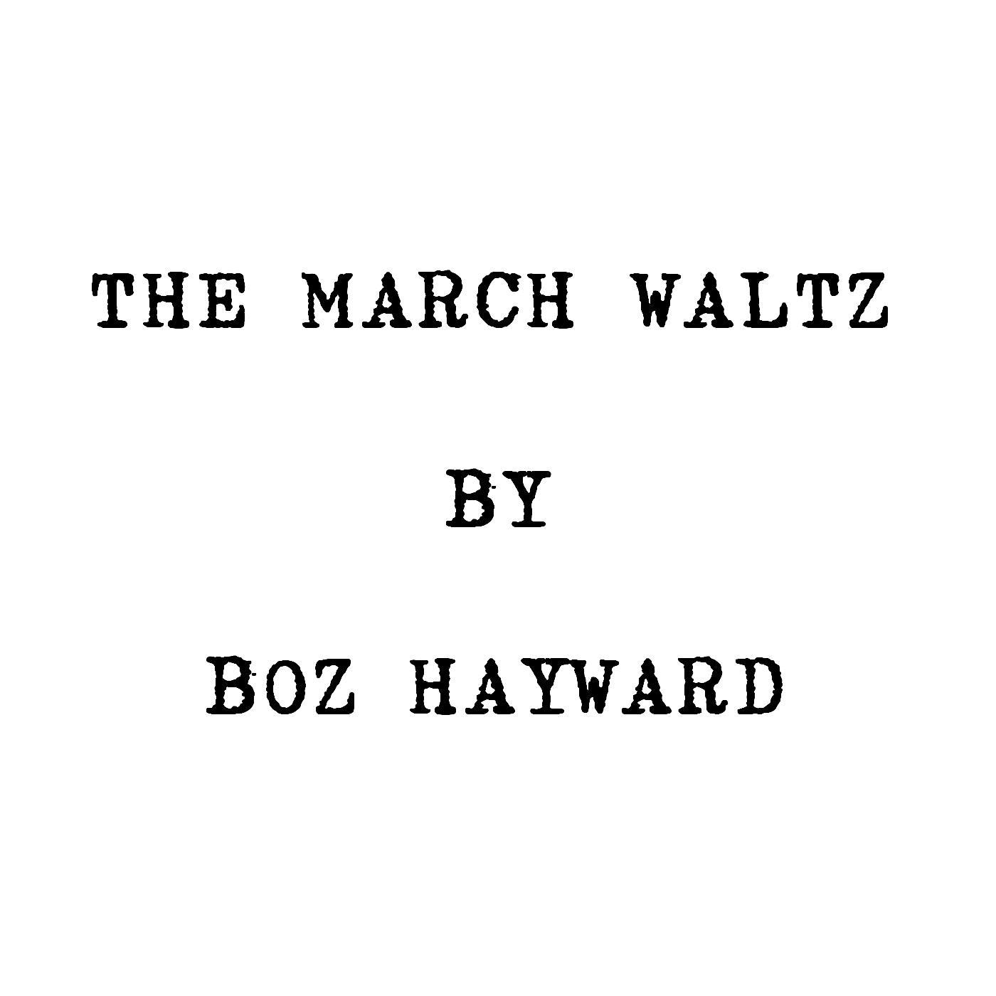 The March Waltz - Single